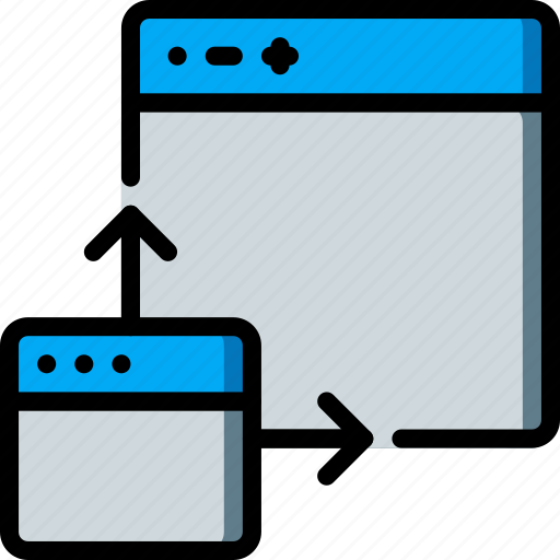 expand, experience, maximise, page, user, ux, window icon