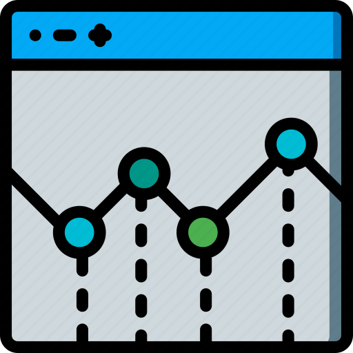 experience, graph, user, ux, website, window icon