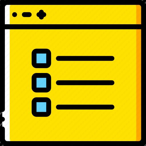 checklist, experience, user, ux, website, window icon
