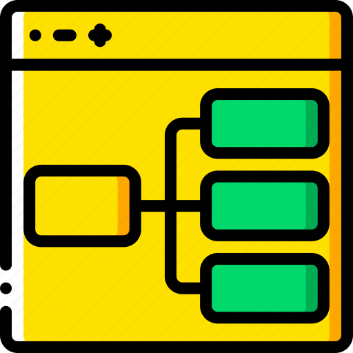 experience, flowchart, user, ux, website, window icon