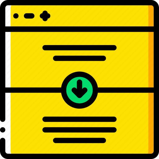 down, experience, scroll, user, ux, website, window icon