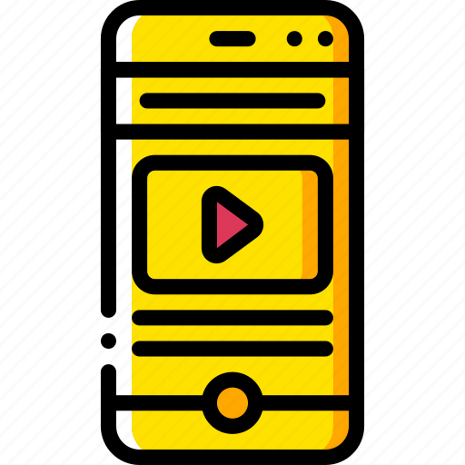 experience, phone, play, user, ux, video, window icon