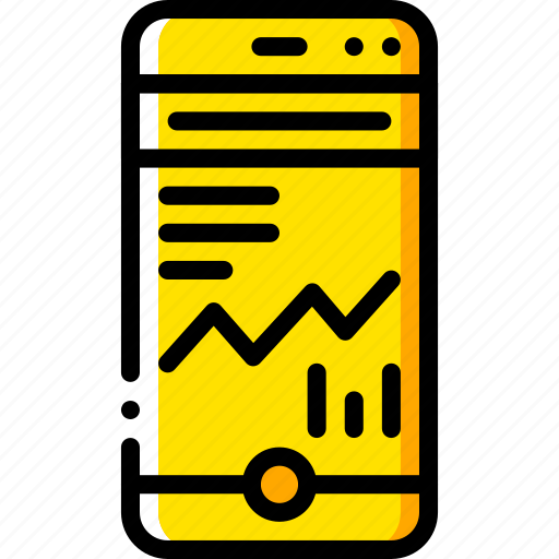 experience, graph, phone, user, ux, window icon