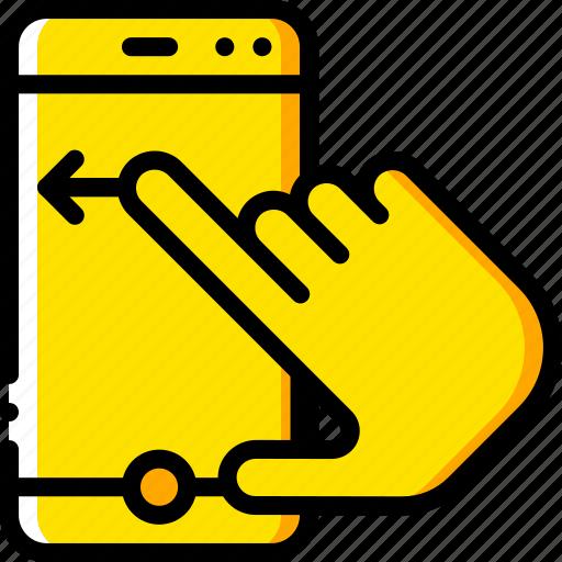 experience, finger, phone, swipe, user, ux, window icon