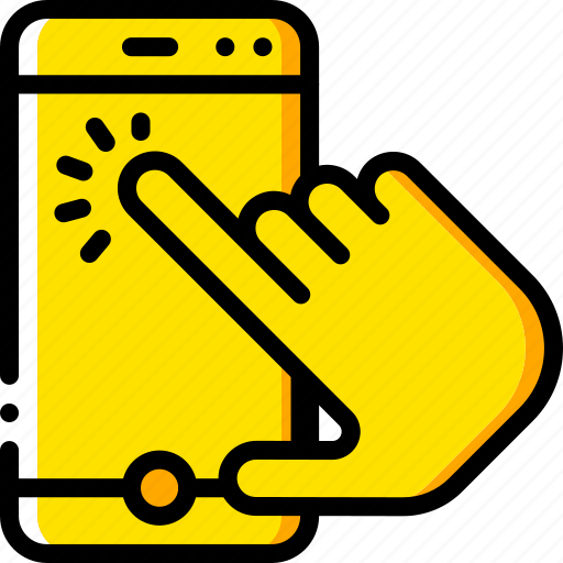 experience, finger, phone, tap, user, ux, window icon