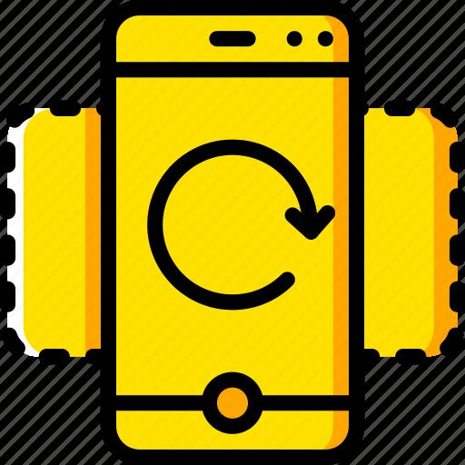 experience, phone, undo, user, ux, window icon