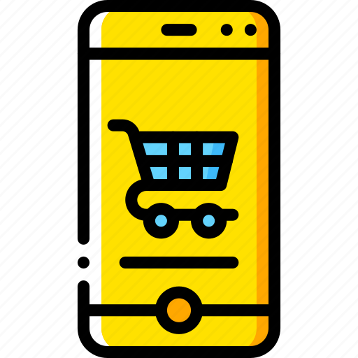 experience, phone, shopping, trolley, user, ux, website icon