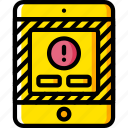 alert, experience, ipad, user, ux, warning, window icon