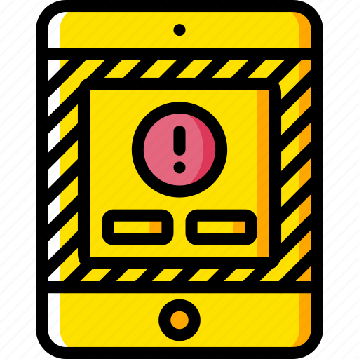 alert, experience, ipad, user, ux, warning, window icon