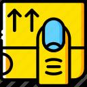 ipad, website, ux, experience, window, user, scroll icon