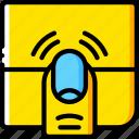 experience, finger, ipad, tap, user, ux, window icon