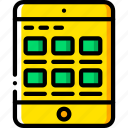 ipad, ux, results, experience, window, yellow, user icon