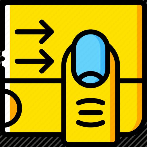 experience, finger, swipe, user, ux, window icon
