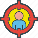 audience, management, marketing, recruiting, recruitment, target icon