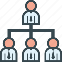 boss, business, chart, employee, organization icon