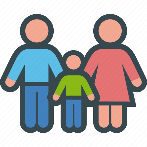 child, family, father, kin, love, mother, relationship icon