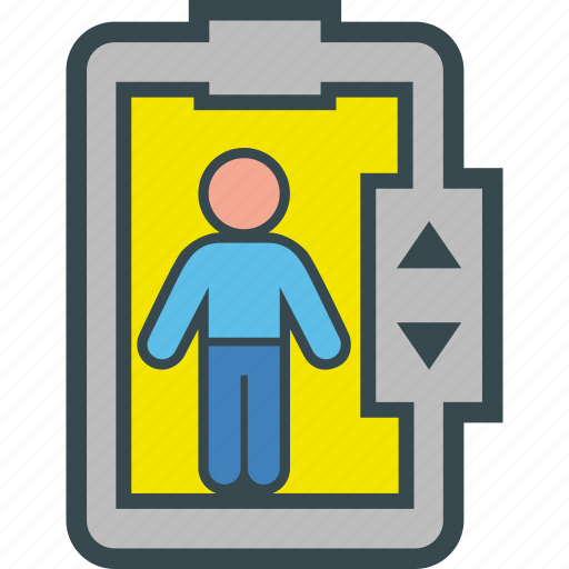 client, elevator, human, man, people icon