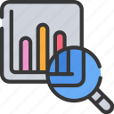 analysis, data, experience, search, user, ux icon