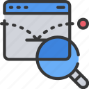 bounce, experience, measure, rate, user, ux icon
