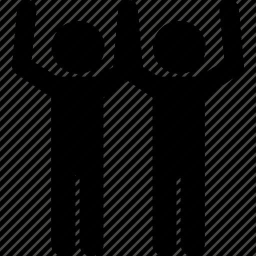 associate, goal, partners, success icon