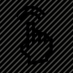 double, gesture, pix, tap icon
