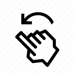 flick, gesture, left, pix icon