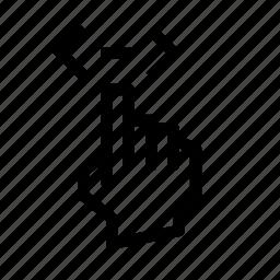 gesture, h, pix, scroll icon