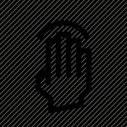 gesture, pix, tap icon