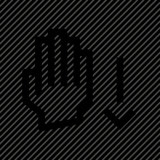 down, drag, gesture, pix icon