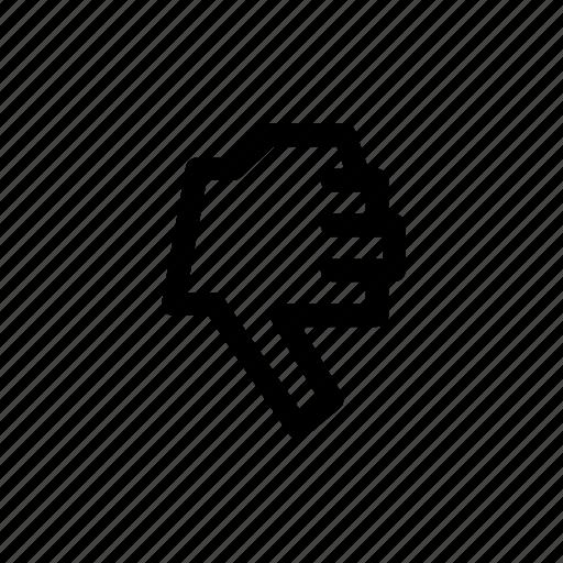 dislike, gesture, pix icon