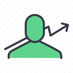 analysis, analytics, business, chart, growth, progress, user icon
