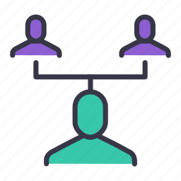 businessman, community, employee, hierarchy, link, manager, user icon