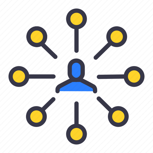businessman, connection, link, links, master, network, user icon