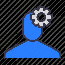 businessman, option, setting, settings, user icon