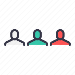 businessmen, community, connection, group, network, users icon