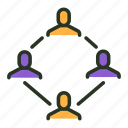 businessmen, community, group, network, opponents, team, users icon