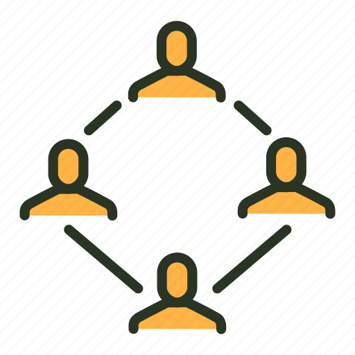 businessmen, community, connection, group, network, team, users icon