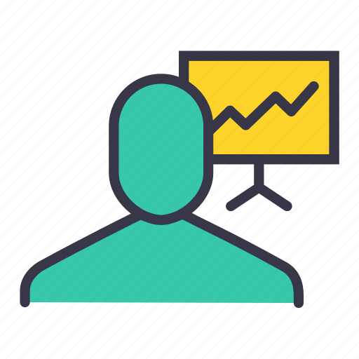 analysis, business, businessman, graph, report, statistics, user icon