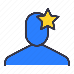 bussinessman, employee, fav, favourite, like, star, user icon