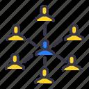 businessmen, command, community, master, slave, team, users icon