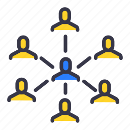 businessmen, command, community, master, slave, team, users icon