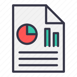 analysis, chart, document, graph, paper, report, statistic icon