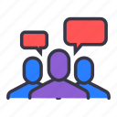 chat, command, communication, members, reply, response, team
