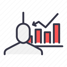 analysis, business, chart, graph, growth, statistic, user icon