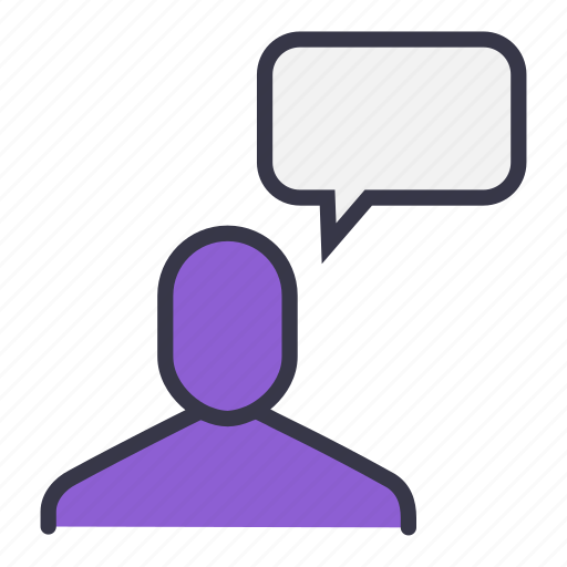 chat, command, communication, reply, response, user icon