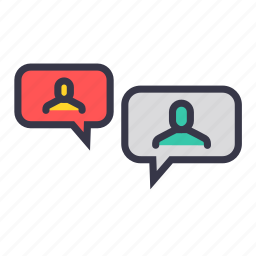 chat, communication, group, message, reply, talk, users icon