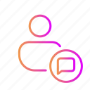 chat, chat bubble, chat support, conversation, discuss, profile message icon