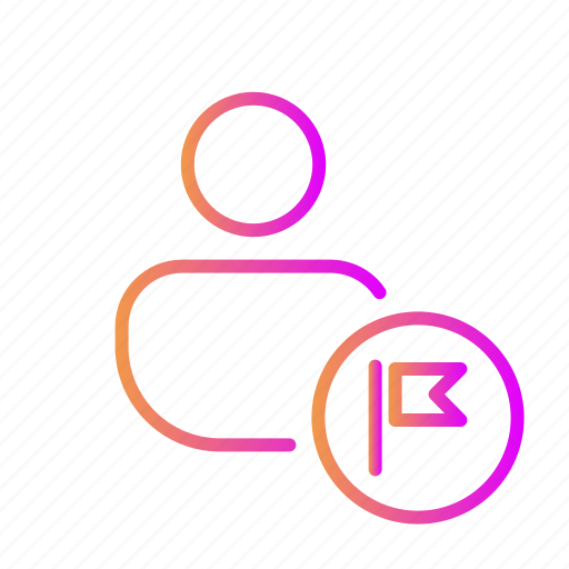 bookmark, destination, end, flag, report account, report profile, start icon