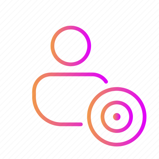 archery, center, goal, sport, target account, target user icon