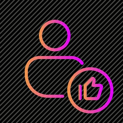 favorite account, favorite profile, favorite user, like account, like profile, like user icon